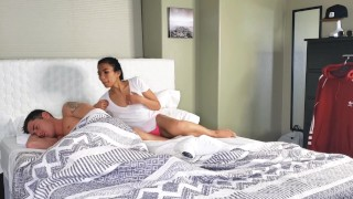 Asian Stepsister Shares Bed With Brother