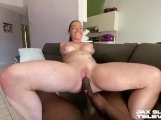 PAWG Slurps & Smashes big black cock – Leila LaRocco