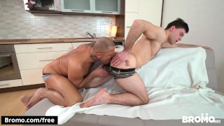 BROMO - Muscular hunk gets hairy ass fucked