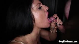 Horny Milf Jade Swallows 14 Loads In Gloryhole