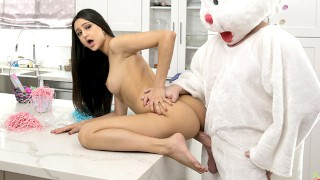 "Step Sis ""It's So Much Bigger Than I Imagined"" Easter Bunny Fuck"