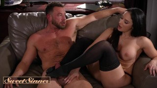 Sweet Sinner - Curvy Sex Therapist Sheena Ryder milks big dick