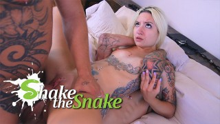 Shake The Snake - Petite Blonde DP First Time w/ MONSTER COCK