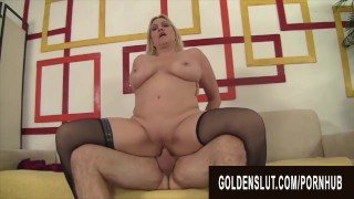 Golden Slut - Gorgeous Busty Grandma Cala Craves Compilation Part 3