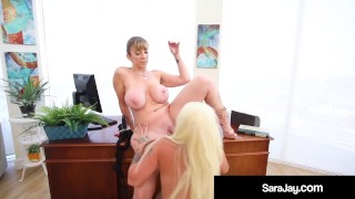 Thick PAWGs Alexis Andrews & Sara Jay Eat Pussy Like Pros!