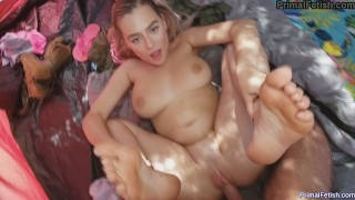 Sucked and Fucked while Camping with my step-sister