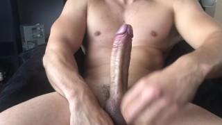 Stroking Huge Cock