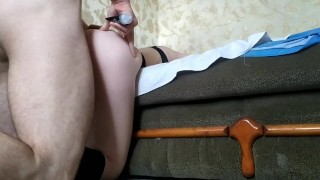 Punished sister in anal, very painful. Screams groans. Cum on the ass.