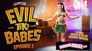BurningAngel Barmaid Jewelz Blu Gives A Hot Tiki Performance