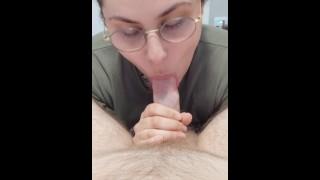 POV blowjob and cumshot