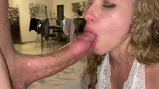 HORNY TEEN COCKSUCKER DEVOURS A BIG COCK WITH SENSUALITY - PART 1