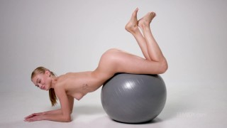 Jane F. exercises naked