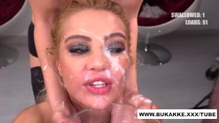 Cherry Kiss Totally Cum Covered - bukkake.xxx