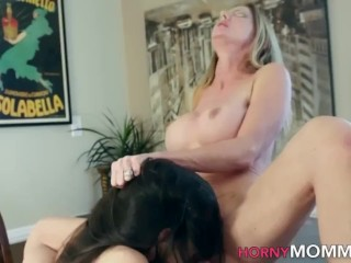 Toes sucking lesbian stepmom milf eats out