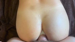 Submissive Asian slut gets her ass fucked and filled with cum - wmaf anal