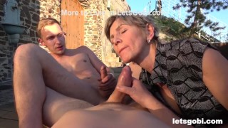 Granny Feels Young Against Two Bi Cocks