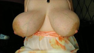 Massive boobs with huge areolas heavy saggy hangers