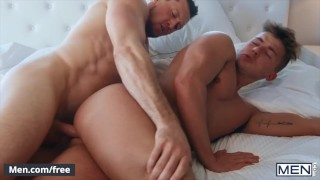 Mencom - Teen guy has his butthole drilled by his straight friend
