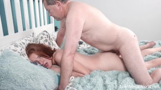 Old-n-Young - Foxy Lee - Old cock inside fresh pussy