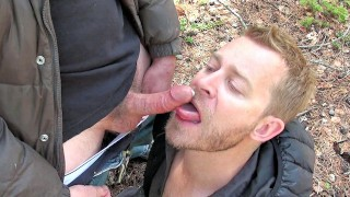 Bearded Mountain Man's Load Swallowing w/Pre-Cum Tasting