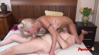 Young MILF Wants More After HO Massage And Fucks Old Cameraman to Orgasm