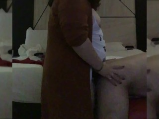Strapon Fucking from behind Pegging BBW