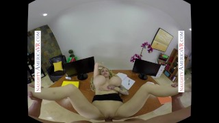Naughty America Danielle Derek's boss uses her big tits and fills all holes