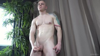 ActiveDuty - Straight Muscle Hunk Jerks Off To Porn