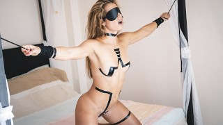 Tied Up Slave Gets Slapped & Punished Hard then Fucked Rough by her Master