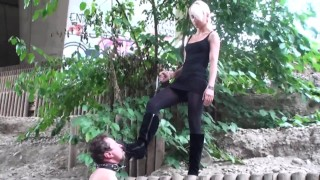 Princess Paris dominate and humiliate slaves