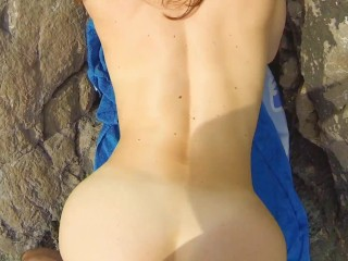 I discovered her on nudist seaside and loved in sounds of waves and shaft sucking