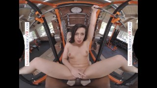 Naughty America - Whitney Wright shows you her 2 skills Boxing and FUCKING