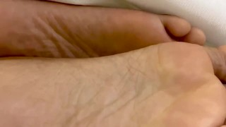 Black Feet Between the Sheets While Getting Fucked
