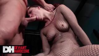 Deviant Hardcore - Gorgeous Babe Casey Calvert Face Fucked & Worships Evan's Cock