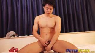 PETERFEVER Young Japanese Higaken Shows Off Hole And Wanks