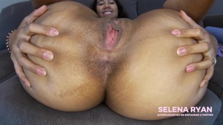 Close Up Asshole Worship JOI: Massive Latina Ass - SelenaRyan