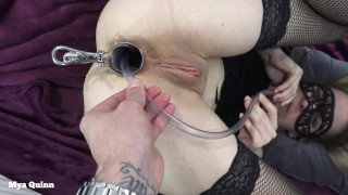 Drinking anal piss with speculum - anal pissing ass licking - Mya Quinn