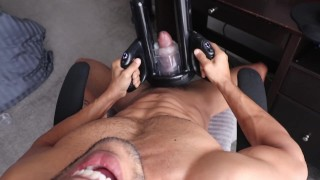 Milking my cock for the 7th time today (Fleshlight Launch)