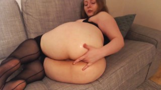 Awkward Amateur Tries Butt Plug And Cums HARD With Vibe