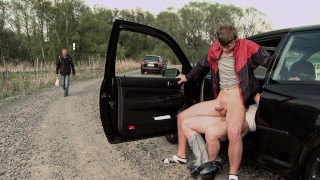 GAYWIRE - Hitchhiking Leads Fucked Public Gay Sex (Featuring Paul Fresh & Nathan)