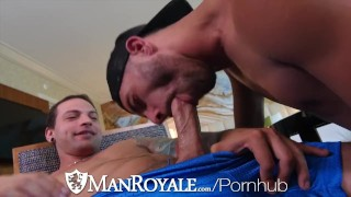 ManRoyale Dick Sucking Compilation With Cum Dumped On Chest
