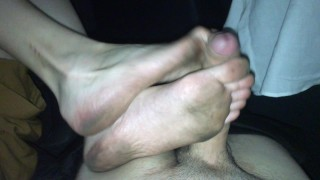 Dirty Soles Footjob In Car - Cumshot - FootRelaxxx