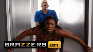 Brazzers - Big Tit BBW Maserati Gets Stuck in Elevator