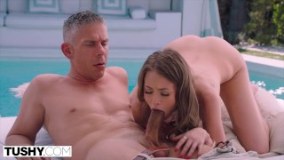 TUSHY -  She found the perfect place to get gaped by her boss