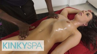 KinkySpa - Sexy Brunette Whitney Wright Gets A Massage & A Bbc
