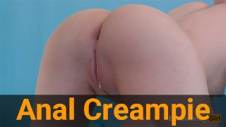 My First Anal Sex Pt.2: Gentle Ass Fuck Ended Up With Anal Creampie Short Version