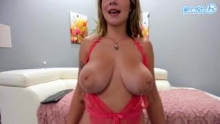 Camsoda - Gabbie Carter Big Tits Masturbates on couch