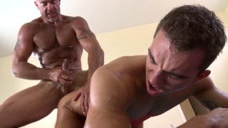 GAYWIRE - Trace Michaels Covers Dylan Hauser With Oil And Gives Him The Greatest Massage Ever