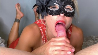 Hot Girl from a Party gives POV Blowjob, Footjob, Feet Pose