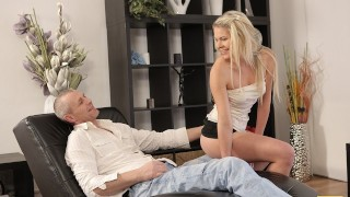 VIP4K. Seductive model seduces older male for unforgettable sex